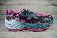 Hoka One One Ironman Clayton 2 Running Shoes Pink Teal Black Women's Size 6