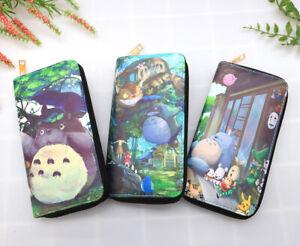 Totoro Cartoon Zipper Wallet Cash Coin Long Purse Card Holder for Women & Girls