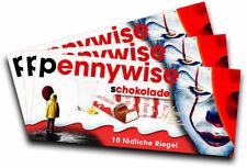 3x Aufkleber PENNYWISE für Kinderschokolade (Geschenk, Gadget)