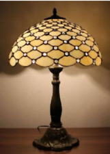 Tiffany Style Table Lamp Handcrafted Desk Light Bedside Stained Glass Lamps