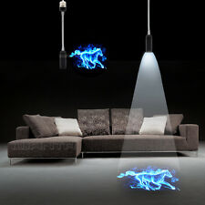 E26 E27 Blue Burning Horse Logo Home Wall LED Laser Projector Ghost Shadow light
