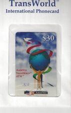 TK Telefonkarte/Phonecard USA Amerivox $30. International World Peace Globe