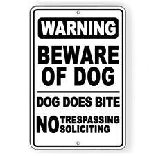 Beware Of Dog No Trespassing Aluminum 8 x 12 Metal Novelty Sign Warning Sbd034
