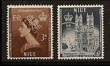 Niue -1953 - Sc 123 -24 - Coronation VF MH