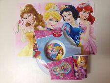NEW Disney Princess Melamine 3 Piece Dinner Set Tableware Cup Bowl plate