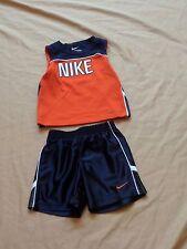 Baby Nike 2 Piece Tank Top Shirt/Short Set Blue/Orange/White 24M 24 Months