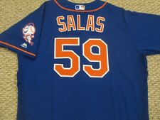 FERNANDO SALAS size 48 #59 2016 New York Mets game jersey Home Alt Blue MLB