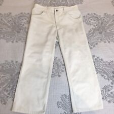 R M WILLIAMS Womens Pants Trousers Size 11  / Size M Cotton Beige Casual Summer