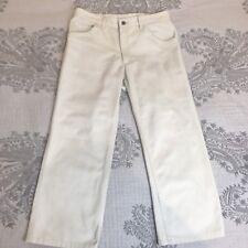 R M WILLIAMS Womens Pants Trousers Size 11  / Size M Cotton Beige Casual