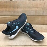 Nike Womens Free 5.0 Running Shoes Blue 724383-009 Low Top Lace Up Mesh 6 M