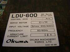 Okuma LDU-600 DC servo Drive  C-1000 50 Amp. Item # 503