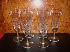 ANCIENNE COUPE A VIN DE CHAMPAGNE EN VERRE x 6 / FLUTE VERRE RAISIN GLASS (n°17)