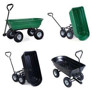 Garden Dump Cart 75L 300 kg Wheelbarrow Tipping Trolley Utility Truck Trailer