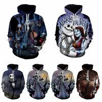 The Nightmare Before Christmas Jack Skellington Jacket Hoodie Pullover Coat Tops