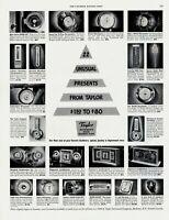 1951 ORIGINAL VINTAGE TAYLOR THERMOMETER - BAROMETER INSTRUMENTS MAGAZINE AD