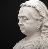 Queen Victoria Bust, Marble Sculpture, Art, Gift, Ornament.