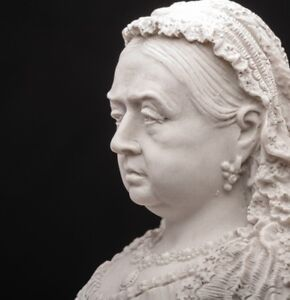 Queen Victoria Bust, Marble Sculpture, Art, Gift, Ornament.