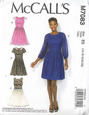 Fitted Bodice Dress Pleat Skirt Inc Cup Sizes Plus Size 14-22 Sewing Pattern