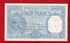 (Ref: C.617) 20 FRANCS BAYARD 10/01/1919 (DATE RARE) SUP-