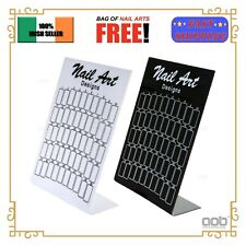 50 Pcs Nail Color Chart Gel Polish Tips Book Showing Display Stand Card EU