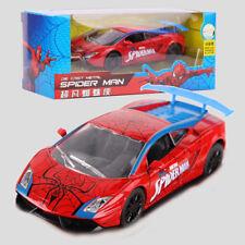 Marvel The Amazing Spider-Man Diecast Car Gallardo Pull Back Sound Light Kid Toy