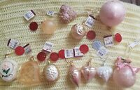 Hand Crafted Glass Ornament Lot 11 total New with tags! 9 imported see details