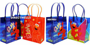 Elmo Authentic Licensed Reusable Small Party Favor Goodie 12 Bags