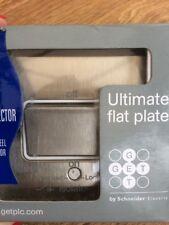 SCHNEIDER Get Ultra Slim GU1213WSS 1 Gang Interrupteur-sectionneur en acier inoxydable