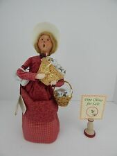 Byers Choice Cries of London Caroler 2000 Woman Selling China w/ Sales Sign
