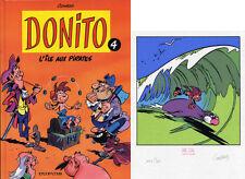 CONRAD DONITO T.4 ILE AUX PIRATES EDITION ORIGINALE+EX-LIBRIS 200 ex. n°/signés