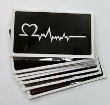 HENNA TATTOO STENCIL HEART ECG 90mm x 50mm SET OF 10