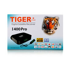 Tiger 4K FHD I400Pro Arabic IPTV Set Top Box Satellite Receiver with Royal WiFi