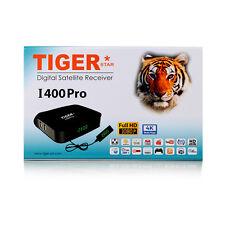 Tiger 4K FHD I400Pro Arabic IPTV Set Top Box Satellite Receiver with Royal WiFi