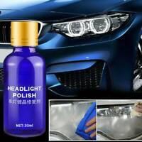 30ML Hardness Auto Car Headlight Len Restorer Repair Liquid Polish Cleaning 9H
