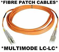 2m Fibre Optic LC-LC Multi-Mode Duplex Patch Lead OM1 MM/MultiMode Cable 1000-SX