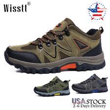 Men's Hiking Shoes Outdoor Trekking Sneakers Sports Waterproof Mesh Work Boots