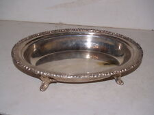 Sheffield Silverplate EP on Copper - Oval Footed Serving dish - no lid