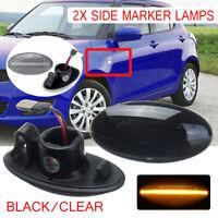 2x LED Side Marker Indicator Repeater For Suzuki Swift Alto SX4 Jimmy Vitar