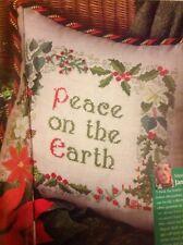 Patchwork Festive Corona Holly Ivy Fiocchi Cuori di Natale cross stitch chart X