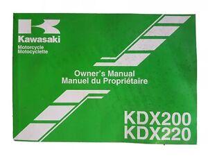Kawasaki KDX200 H9 KDX220 A10 GENUINE  Owners Manual Handbook