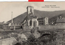 Guerre 1914 1918 Vieux THANN Eglise bombardée Cheminée d'usine