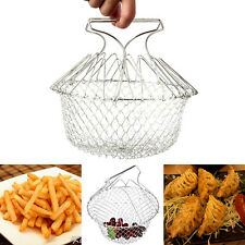 Expandable Fry Chef Basket Kitchen Colander Cooking Chef Strain Fry Basket Net