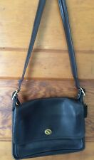 Vintage Coach Black Leather Cross Body Bag USA