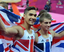 Max Whitlock and Louis Smith UNSIGNED photo - 1746 - English gymnasts