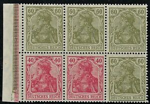 "GERMANY  1919  ""GERMANIA Booklet Pane Broschurenfenster:   H-Blatt 23,   Mint/NH"