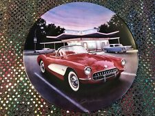 1957 Red Corvette Collector Plate Fabulous Cars of the Fifties Bradford Exchange