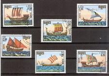 Lotto n 6 francobolli - POSTES R.P. KAMPUCHEA CAMBOGIA  NAVI