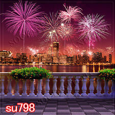 Cityscape 10'x10' Computer/Digital Scenic Photo Background Backdrop SU798B881