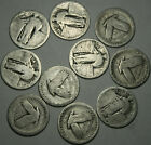 Standing+Liberty+Quarters+Lot+of+10+Coins+90%25+Silver+with+NO+DATES