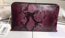 Ted Baker Exotic Front Large Wash Bag / Clutch Bag Purple